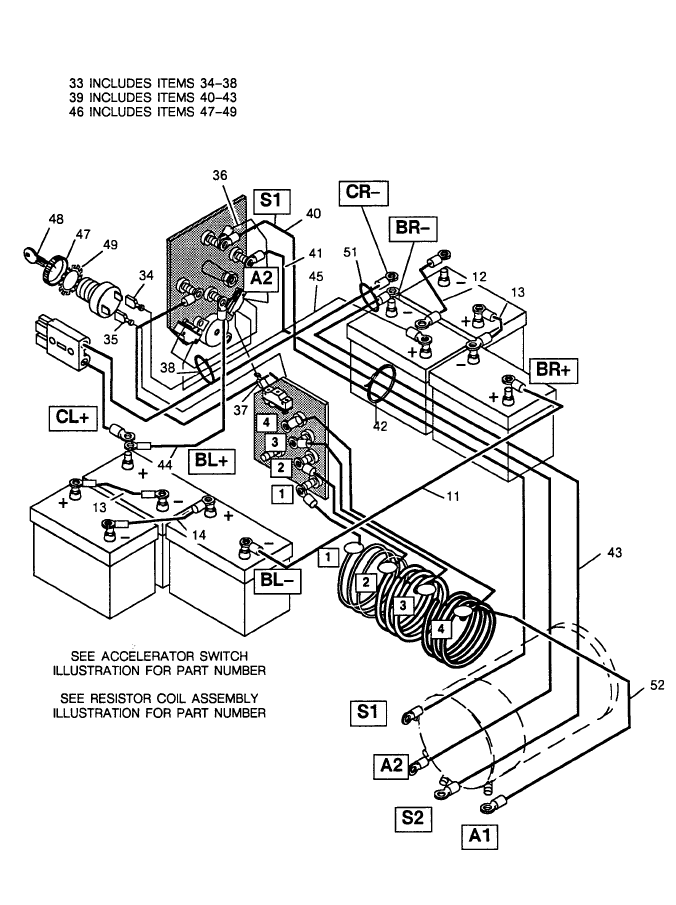 1994.5 Ezgo Medalist Electric Golf Cart Wiring Diagram