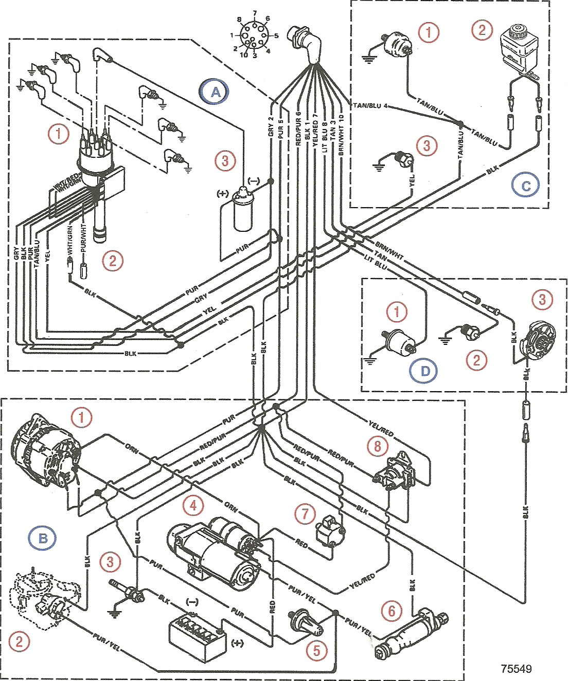 1996 Mercruiser 5.7 Wiring Diagram