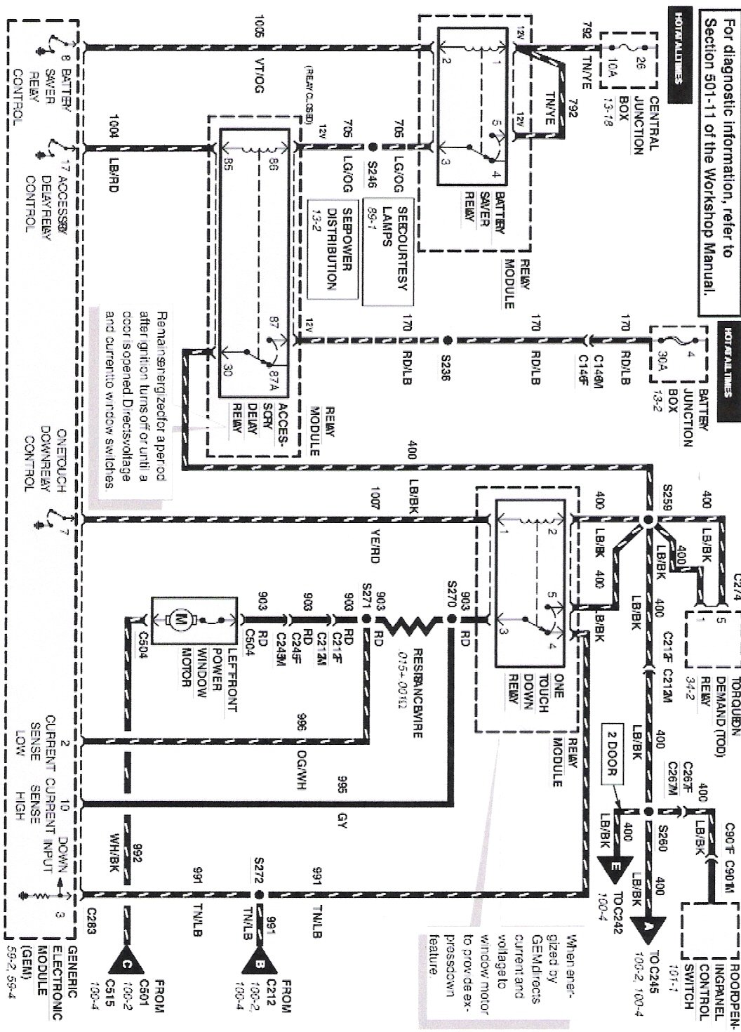 Mercury Mystique Radio Wiring Diagram