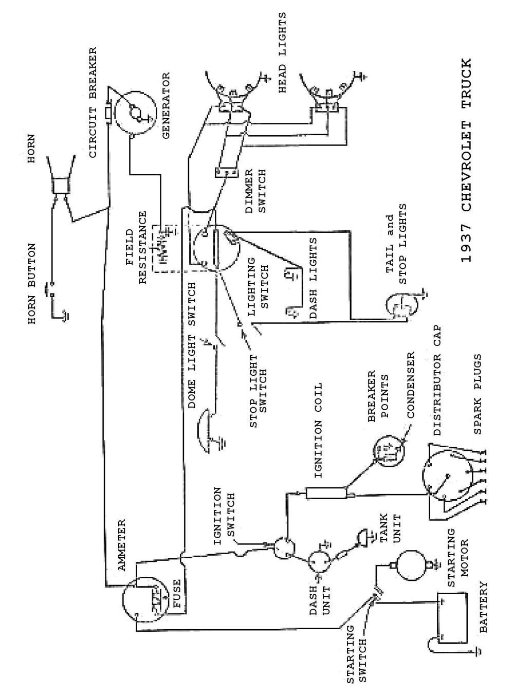 medium resolution of ignition circuit diagram for the 1940 47 cadillac all models charging circuit diagram for the 1940 49 buick all models