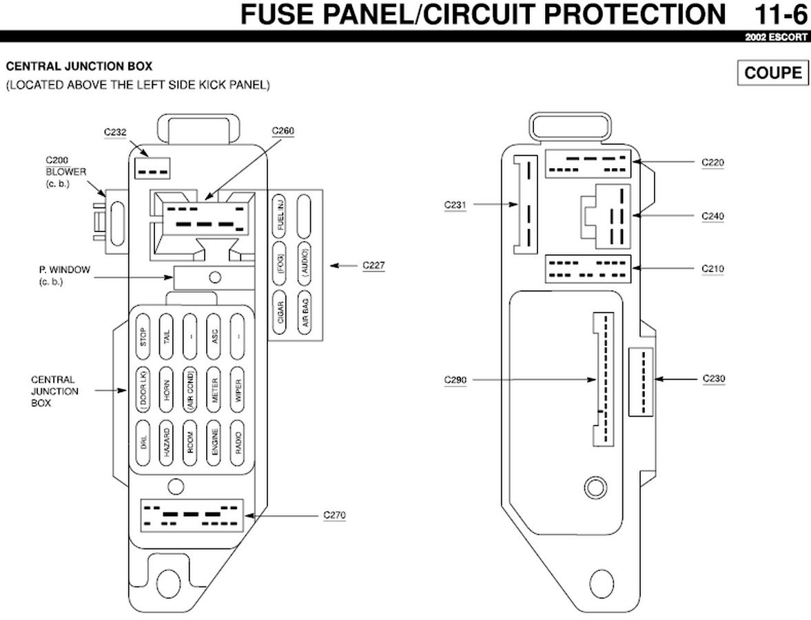 1999 Ford Escort Zx2 Wiring Diagram