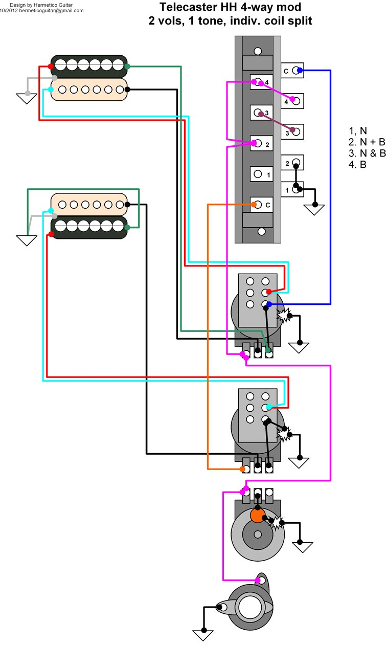 medium resolution of 2 humbucker 1 volume split wiring diagram
