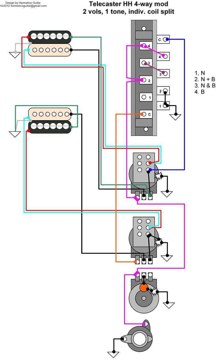 hight resolution of 2 humbucker 1 volume split wiring diagram