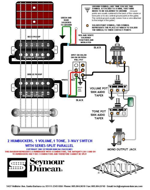 small resolution of with a push pull split coil wiring diagram