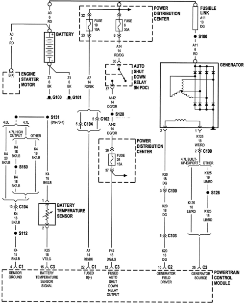 small resolution of 2001 jeep cherokee ecu wiring diagram