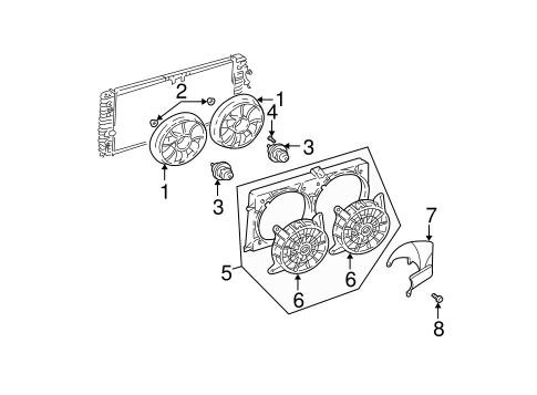 2001 Oldsmobile Alero Radiator Diagram