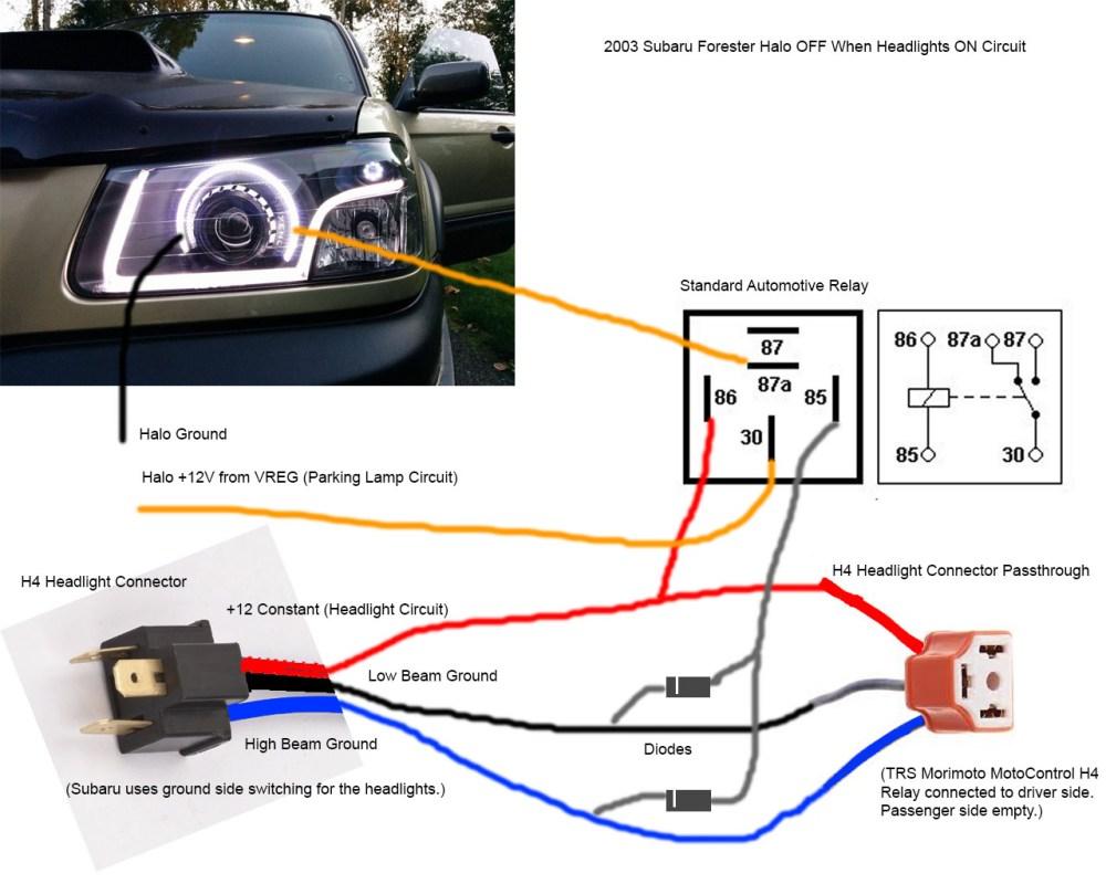 medium resolution of 2001 subaru forester headlight wiring diagram