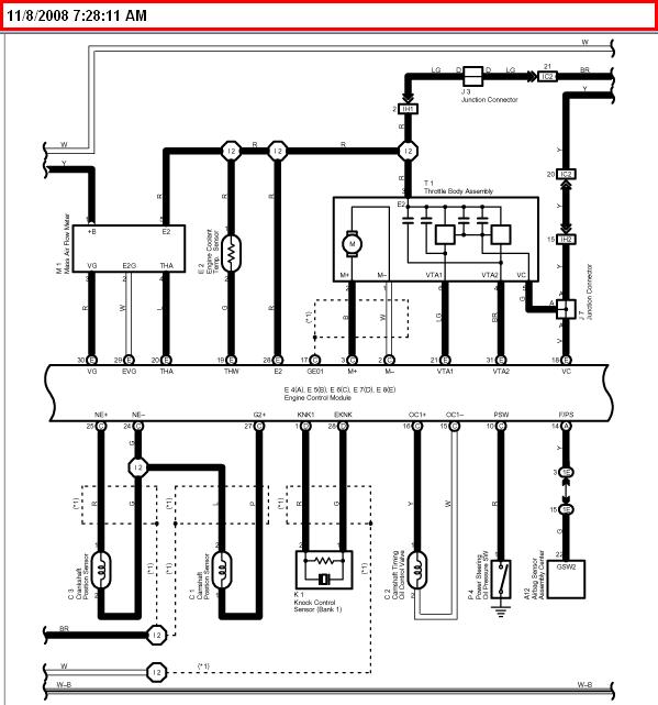 2003 Toyota Highlander 3.0l Oxygen Sensor Wiring Diagram