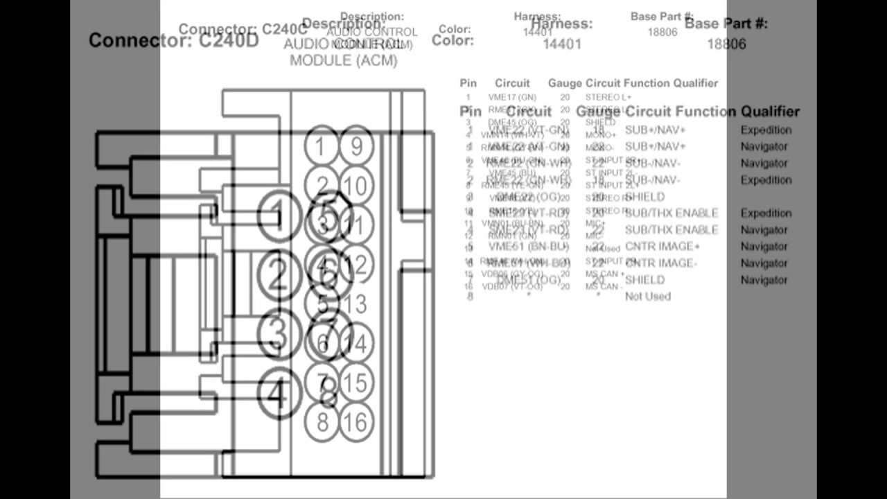 Factory Radio Wiring Diagram On Daimlerchrysler Radio Wiring Diagram