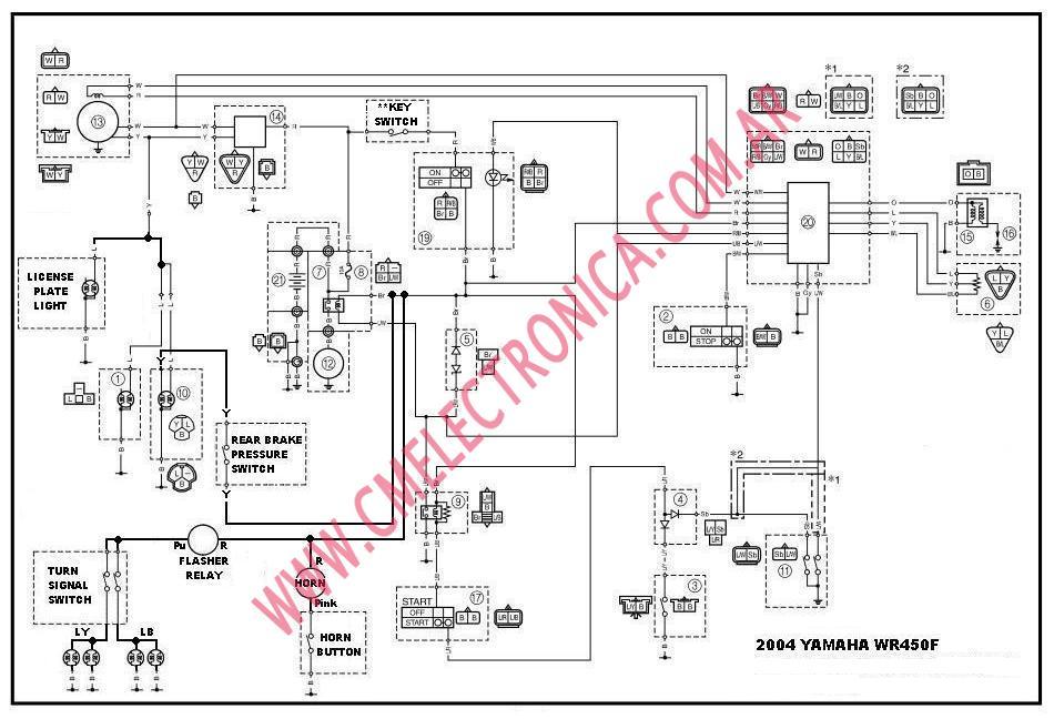 2004 Yamaha Yfz 450 Wiring Diagram