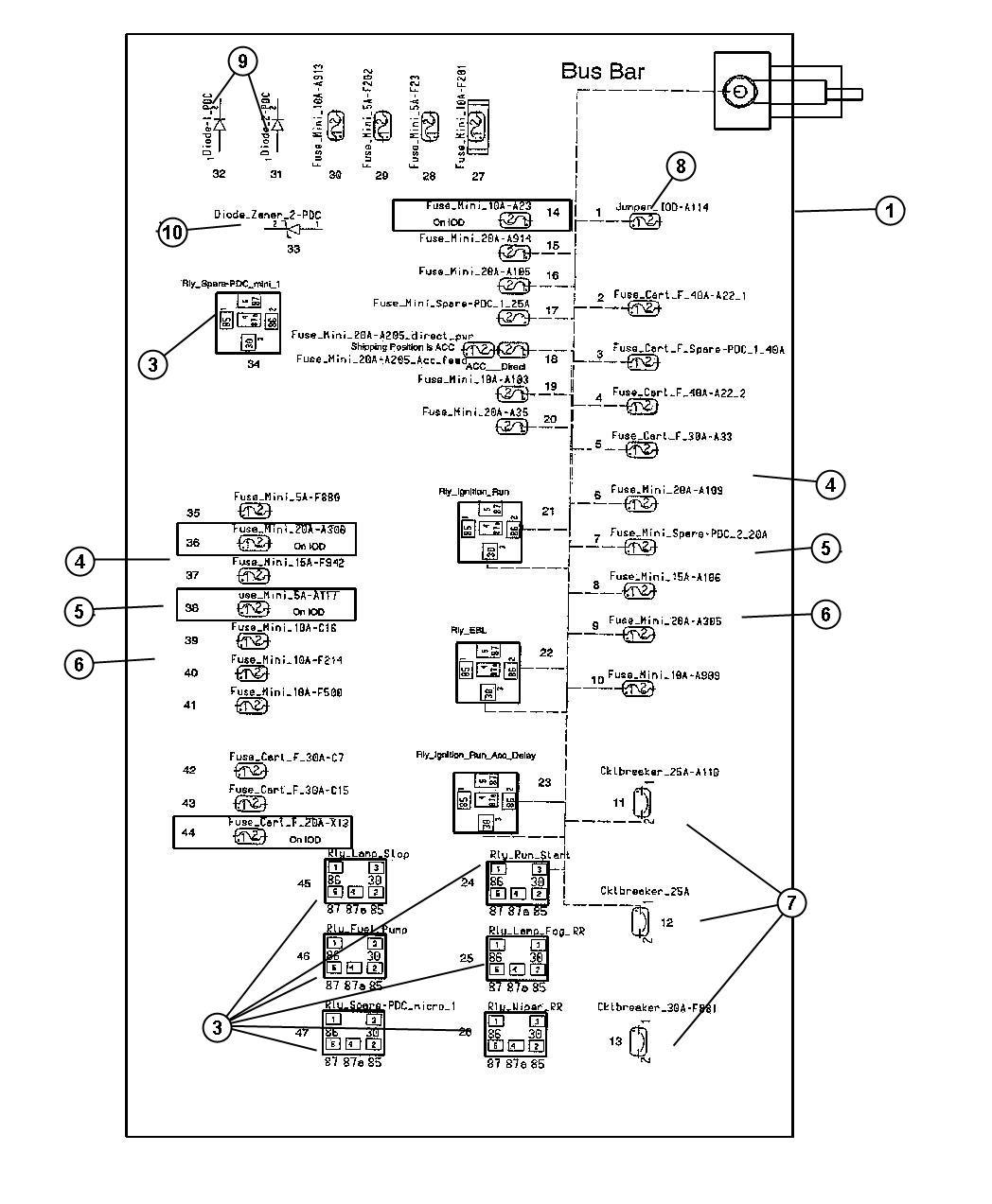 hight resolution of chrysler sebring convertible fuse box