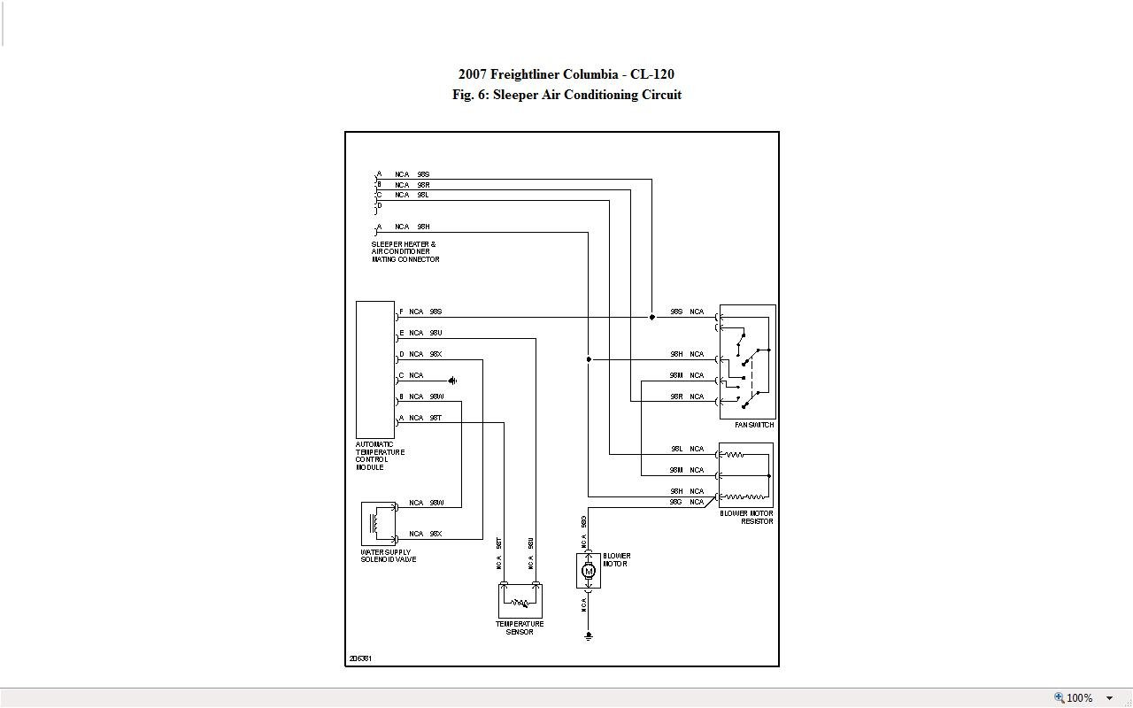2007 Freightliner Columbia Fuel Gauge Wiring Diagram