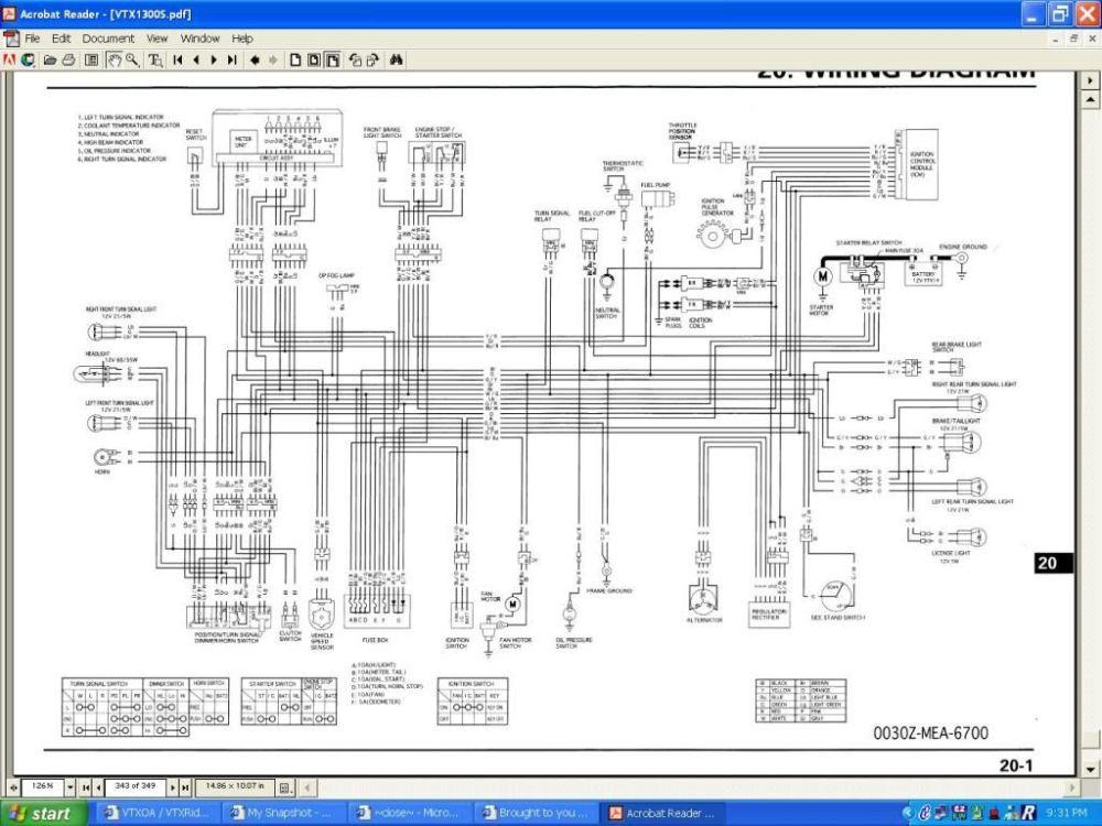 medium resolution of 2007 honda vtx1300c wiring diagram honda vtx oil filter honda vtx wiring diagram