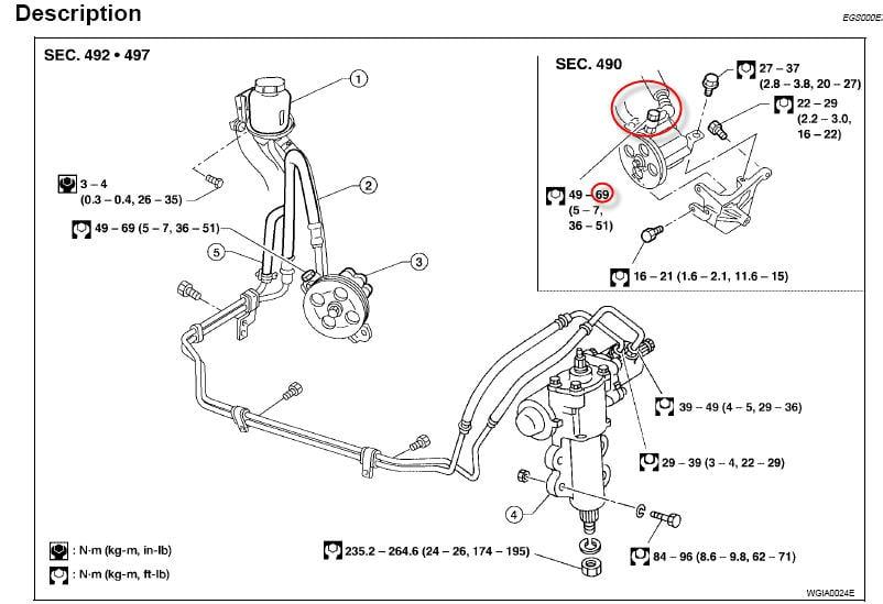 2007 Nissan Quest Power Steering Hose Diagram