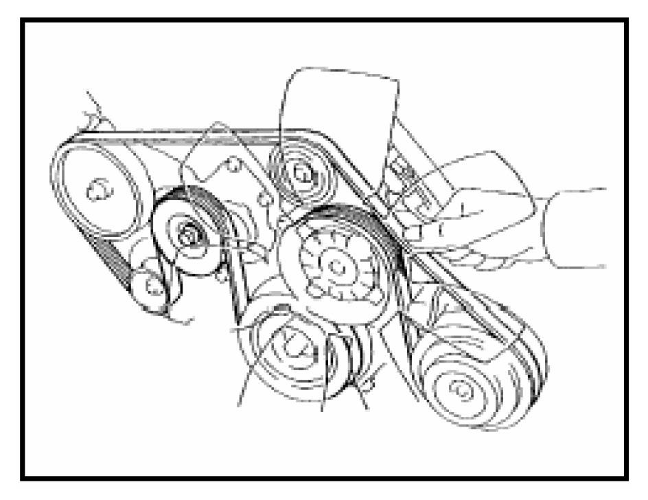 2007 Toyota Tundra 4.7 Serpentine Belt Diagram
