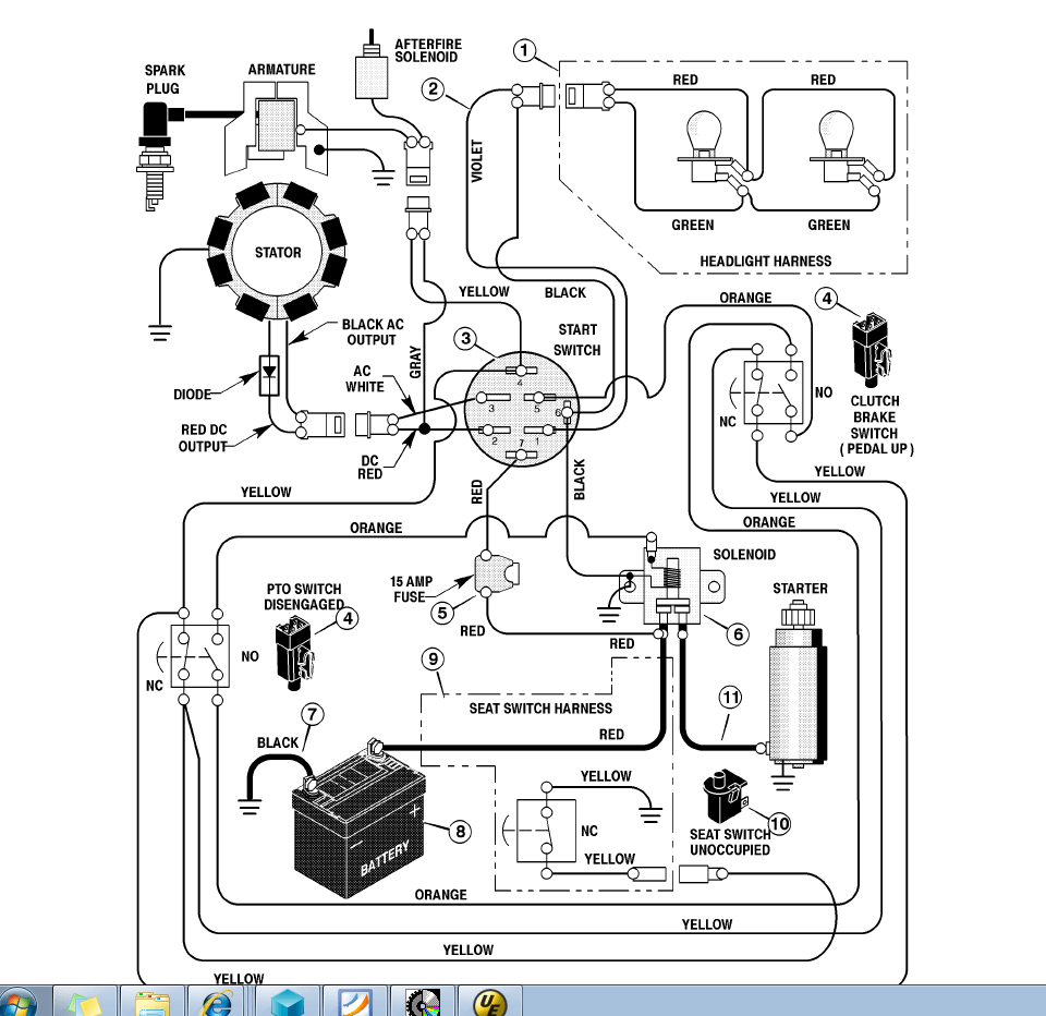 medium resolution of 1330 cub cadet pto wiring diagram