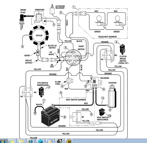 small resolution of 1330 cub cadet pto wiring diagram
