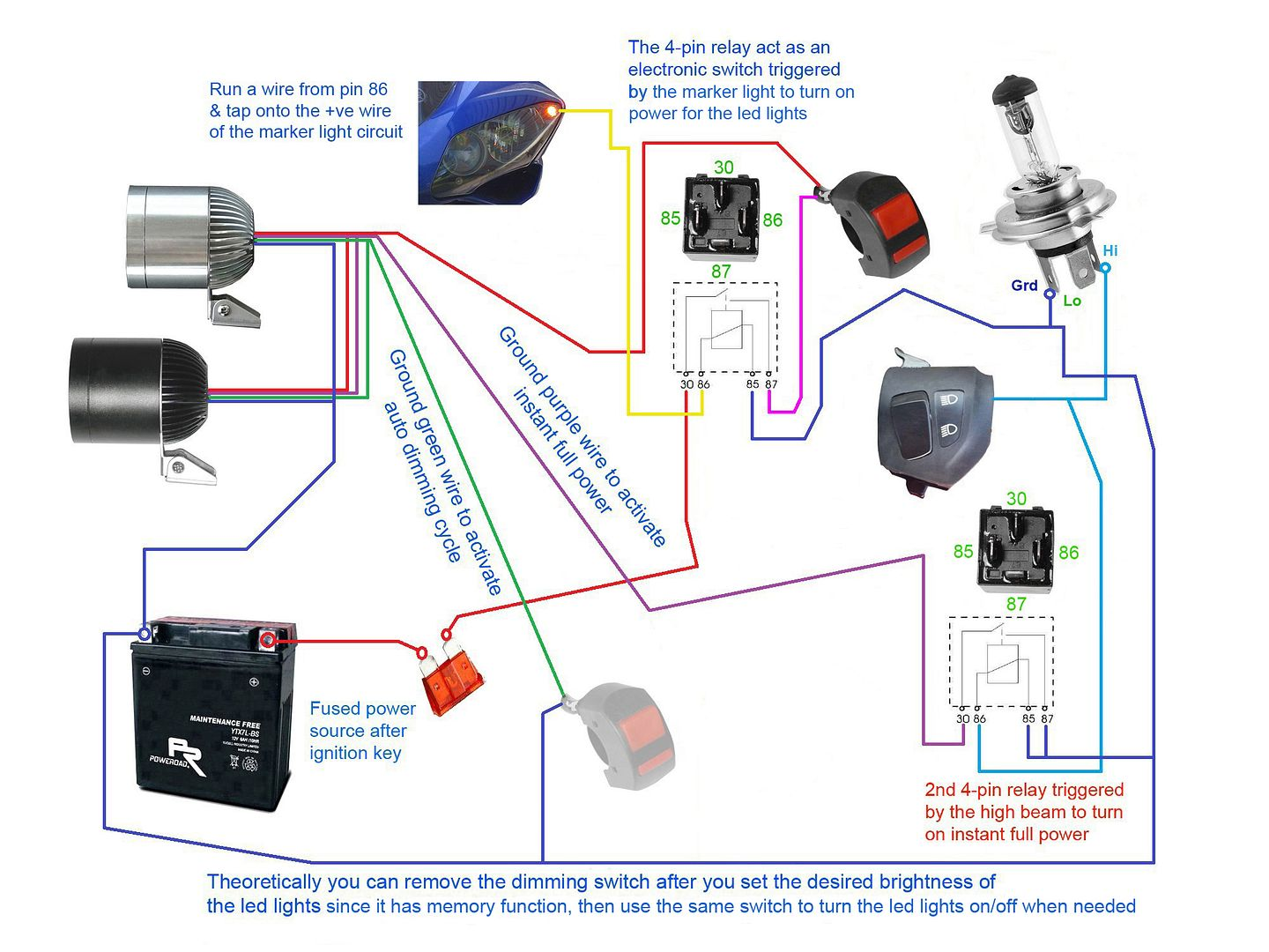 hight resolution of fog light relay switch wiring diagram