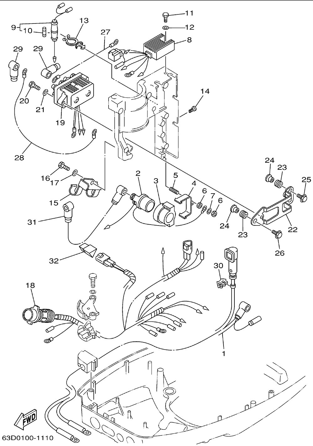 hight resolution of tilt relay 40 hp evinrude wiring diagram