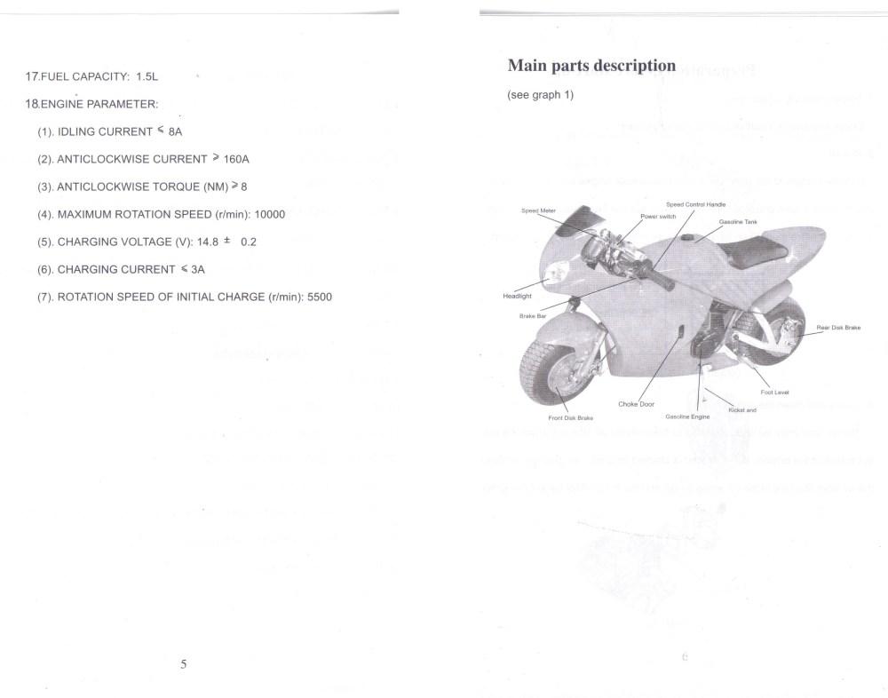medium resolution of cat eye pocket bike wiring diagram