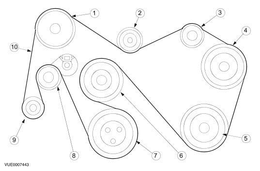 6.0 Powerstroke Belt Routing