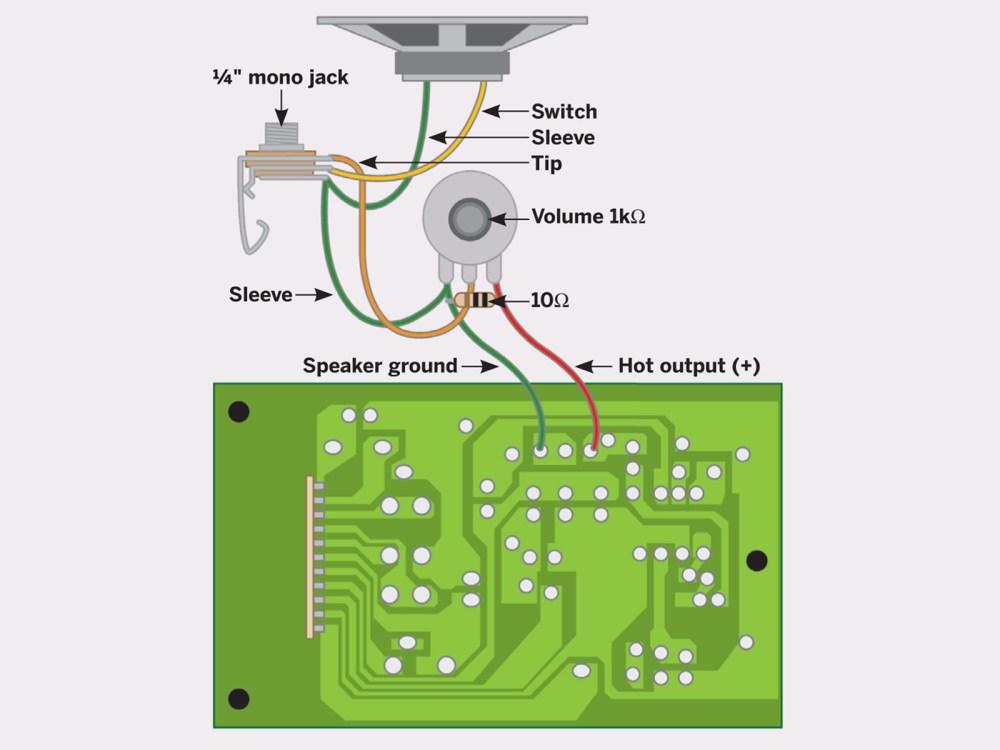 medium resolution of volume control wiring diagram for speaker