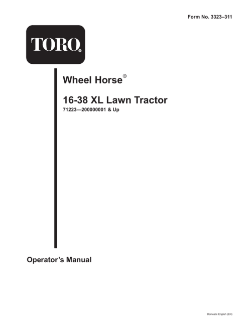 small resolution of toro wheel horse tractor wiring