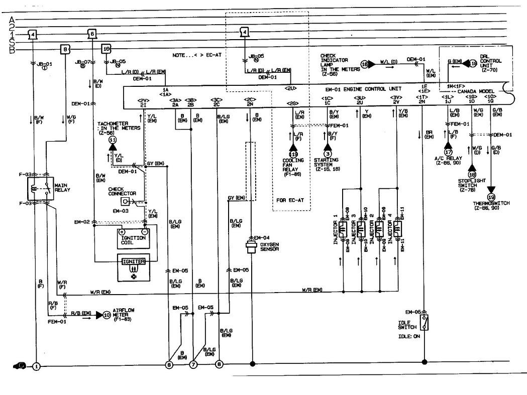 89 Mazda Mx6 Radio Wiring Diagram