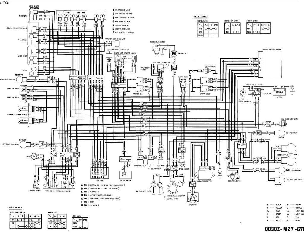 90-93 Yamaha Sj650 Wiring Diagram