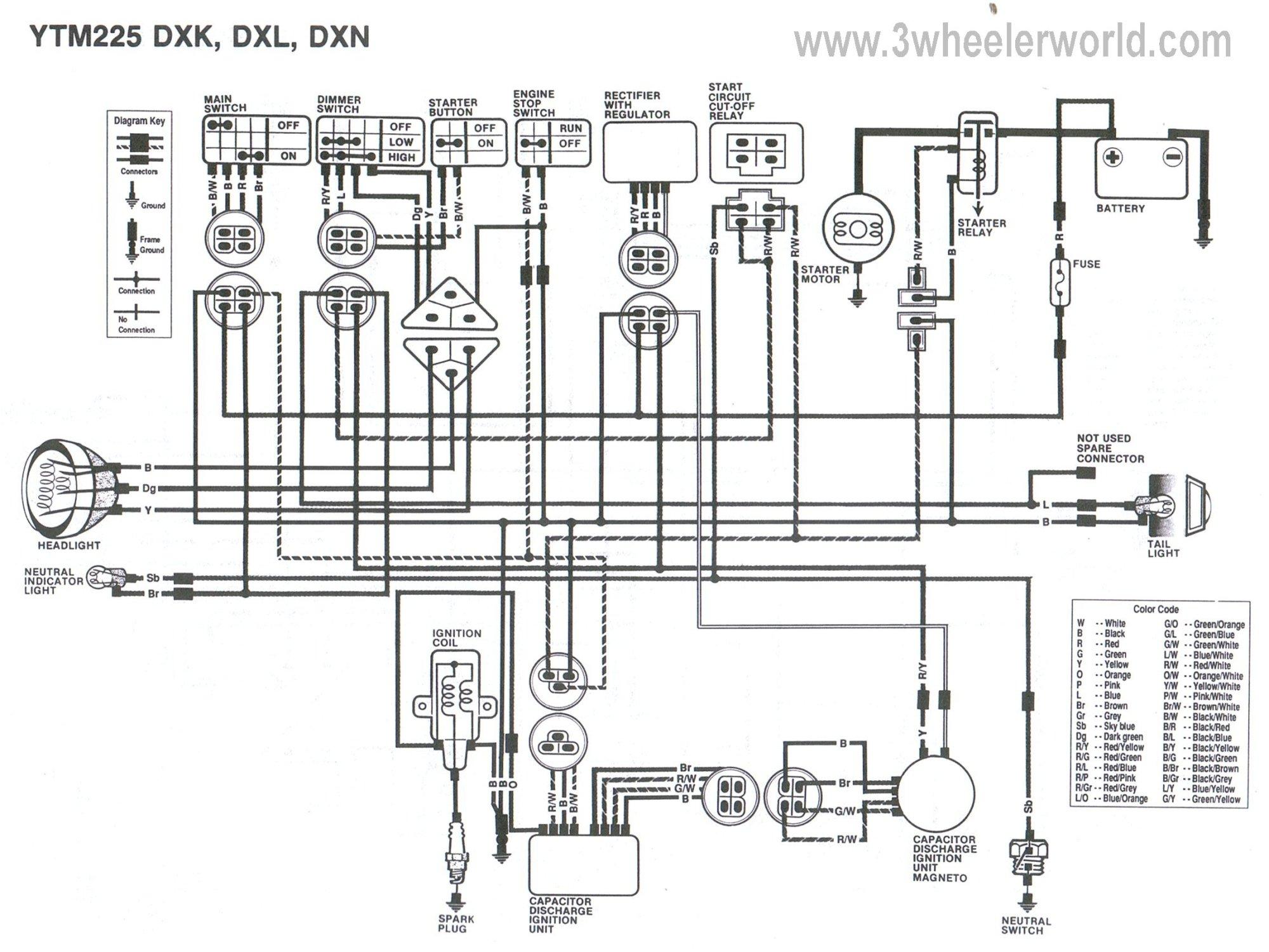 hight resolution of 95 yamaha big bear 350 cdi wiring diagrambig bear wiring diagram 19