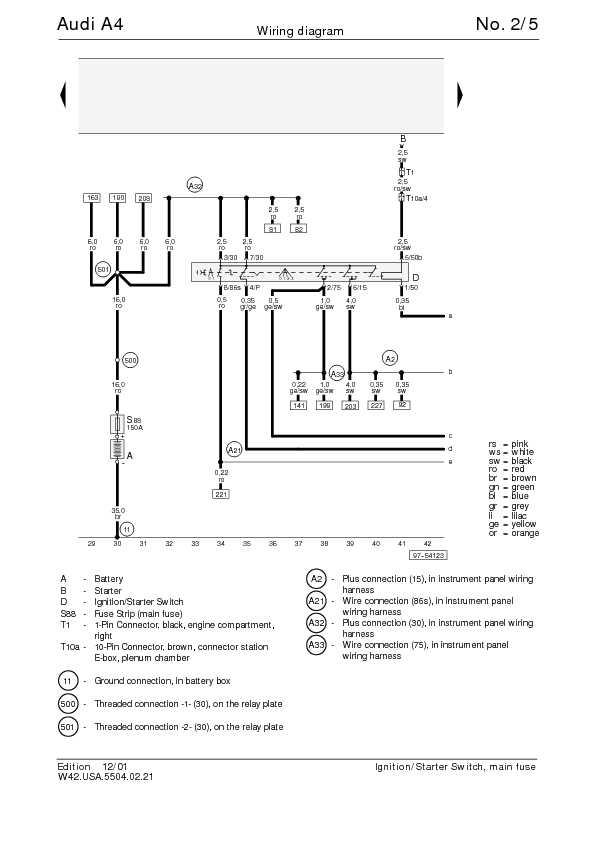 Audi A4 B6 Bentleys Ignition Harness Wiring Diagram