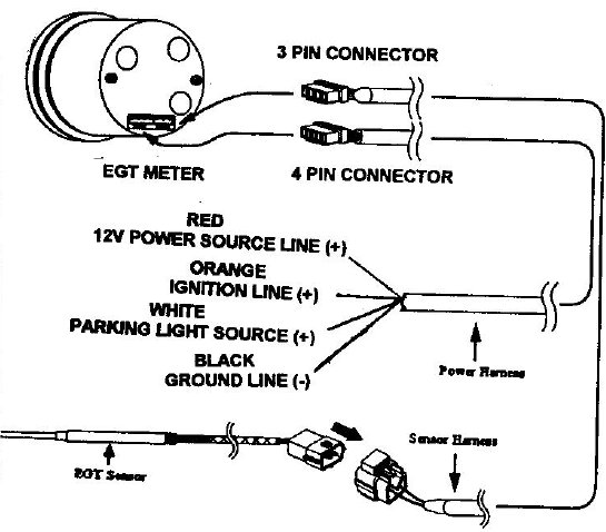 glowshift egt gauge wiring diagram 3 4 way switch autotecnica