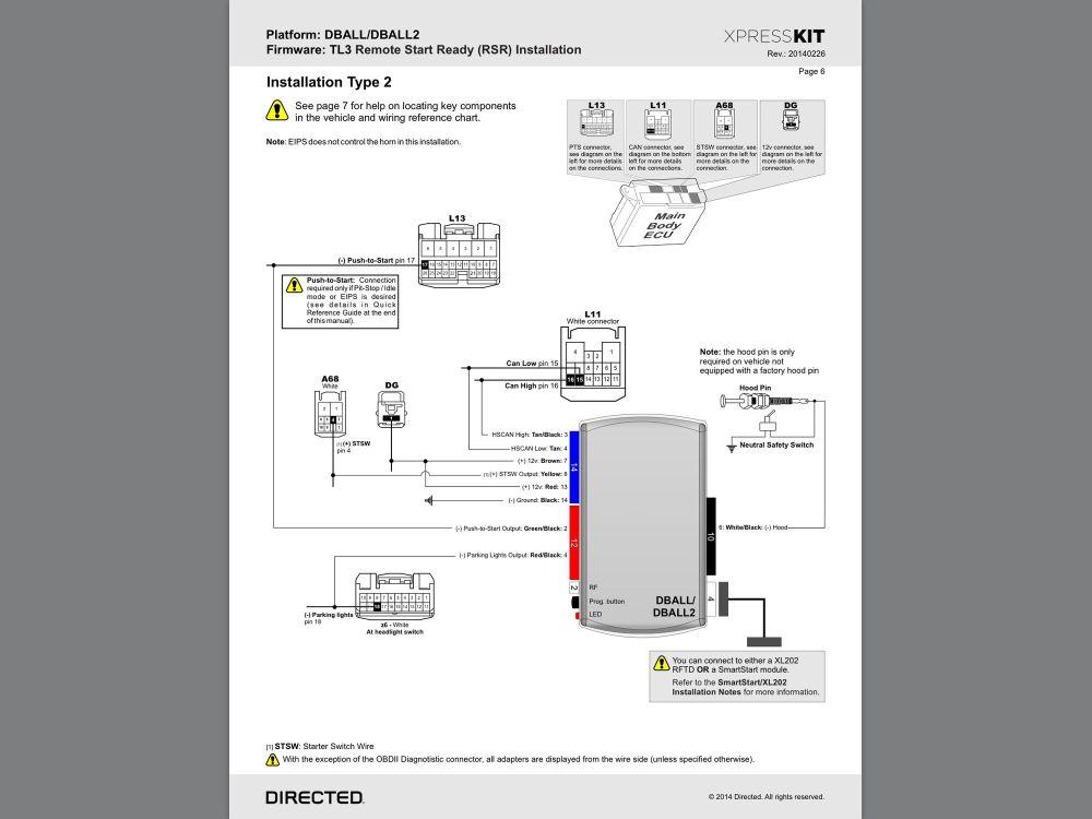 medium resolution of avital 4103 installation manual