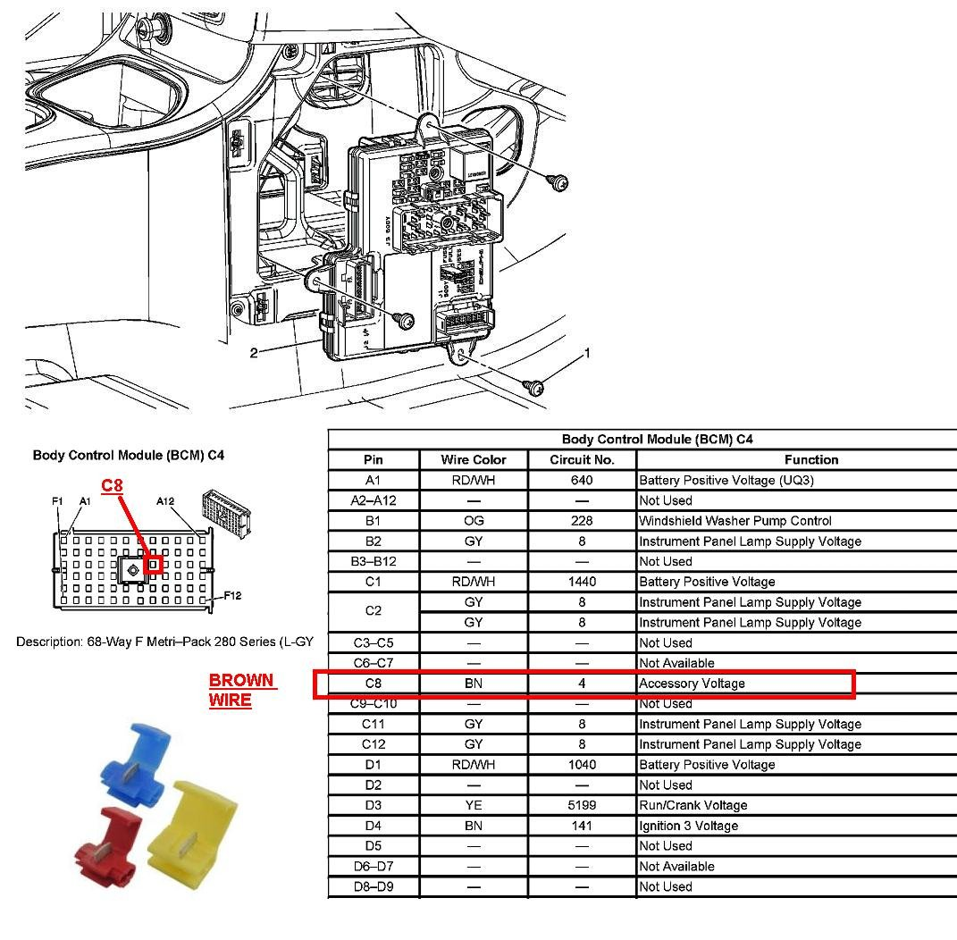 Bcm Chevy Cobalt Location Wiring Diagram