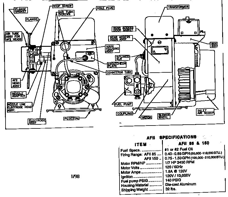 Beckett Model 7505 Wiring Diagram