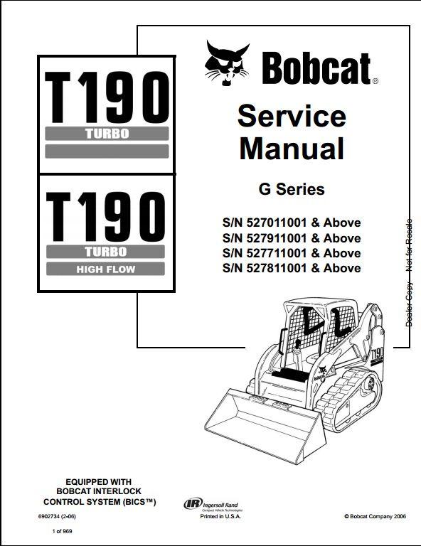 Bobcat T190 Hydraulic Diagram