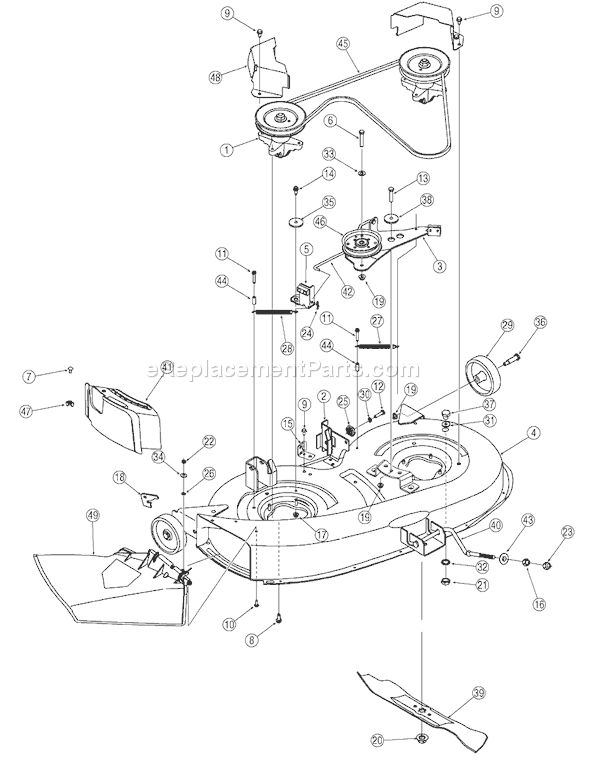Bolens Lawn Mower Parts Diagram Model 13am762f765