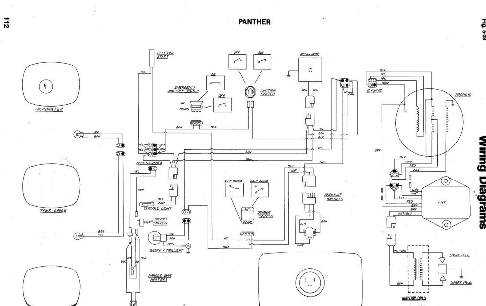 medium resolution of arctic cat cougar wiring schematic wiring diagram today 99 mercury cougar engine diagram snowmobile wiring schematics