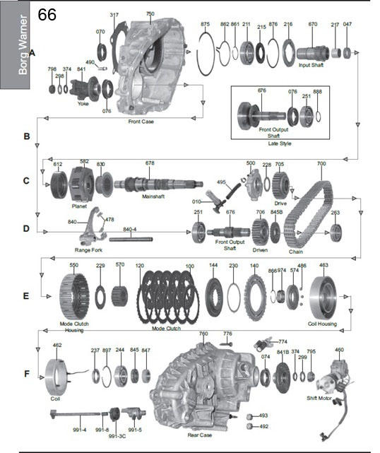 Borg Warner 4406 Transfer Case Diagram