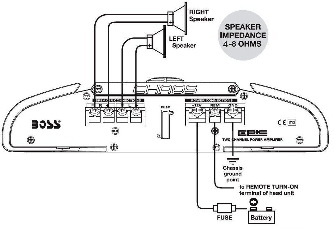 Boss 3700w Amp Wiring Diagram