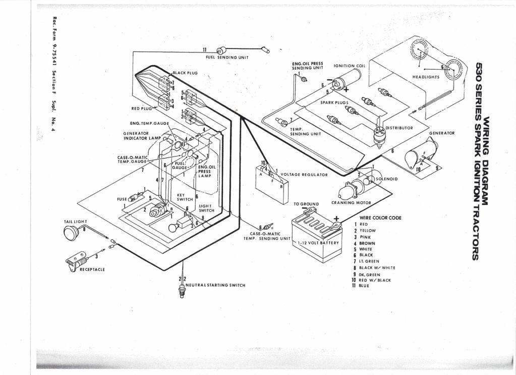 Case 1190 Alternator Wiring Diagram