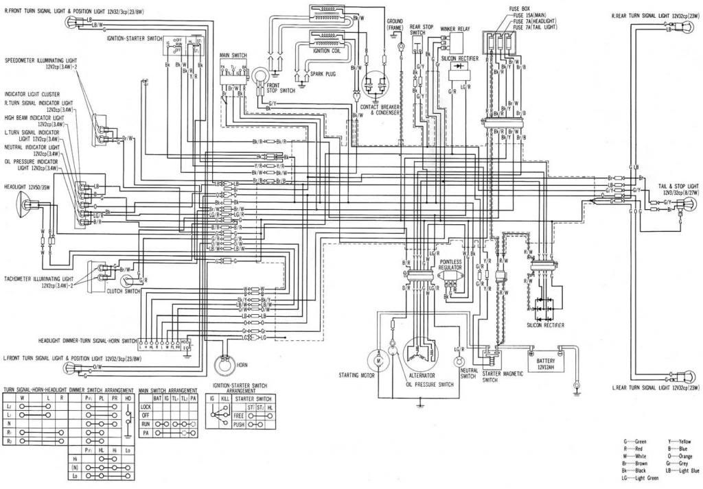 Cb750k Wiring Diagram