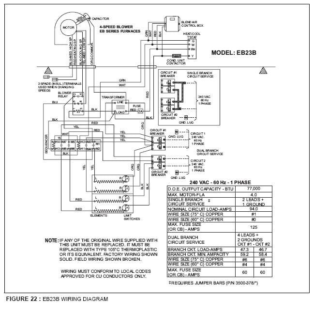 Coleman Evcon Furnace Wiring Diagram