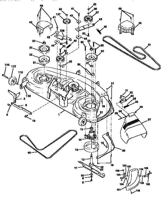 Craftsman Dlt 3000 Drive Belt Diagram