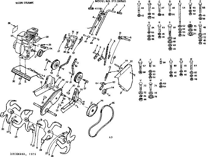 Craftsman Rototiller Parts Diagram