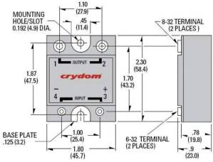 Crydom D245010 Solid State Relay Wiring Diagram