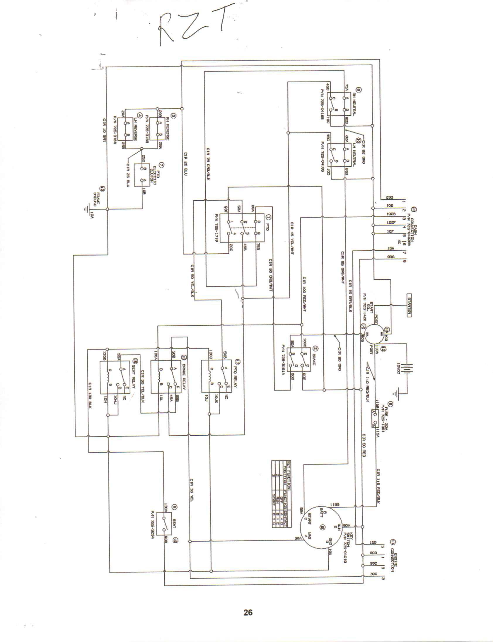 cub cadet 1440 wiring diagrams model