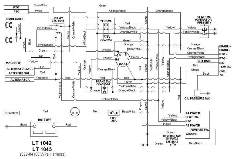 Cub Cadet 2135 Wiring Diagram