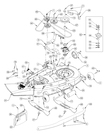 Cub Cadet Lt1018 Deck Belt Diagram