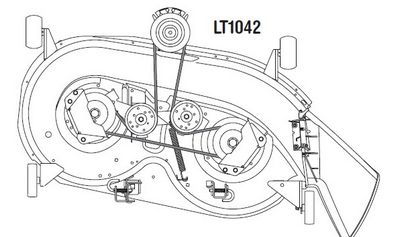 Cub Cadet Lt1040 Drive Belt Diagram